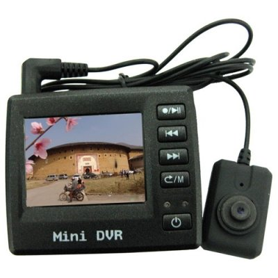 2 Inch LCD Spy Button Color Pinhole Camera with DVR